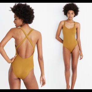 Madewell Second Wave Ribbed Racerback Swimsuit NWT